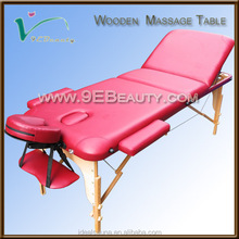 Wholesale cheap wooden lightweight portable massage table folding massage table