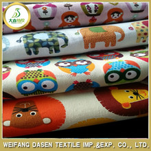 Plain Style high quality cotton fabric for beding set / custom printed bed sheets