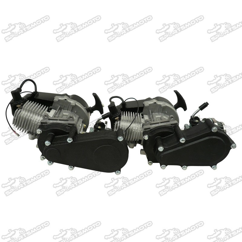 47 49cc 2Stroke HP Engine Motor With Dual Double Chains Gearbox For Mini Dirt Pocket Bike Quad ATV
