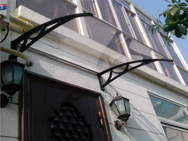 aluminum rain protection for windows polycarbonate canopy