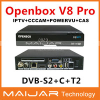 manufacture!openbox V8 pro satellite TV receiver support DVB-S2/T2/ cable set top box price