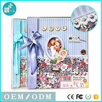 Colorful flowers Wholesale cloth Cover Photo Albums 20 Sheets self adhesive photo album pvc sheets