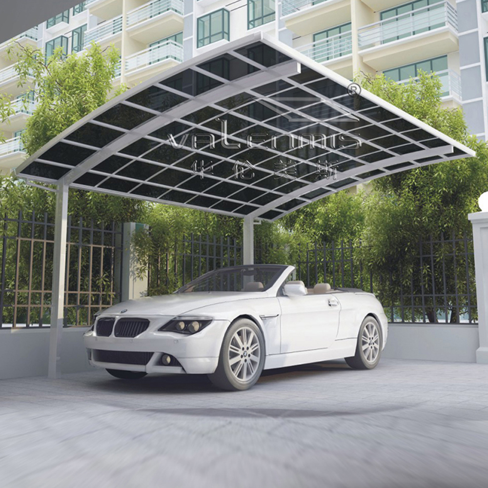 Aluminium Car Shelters : Aluminum car parking shelter with polycarbonate roof buy