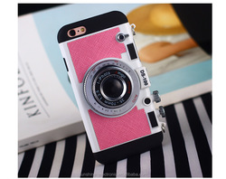 Silicone creative soft shell camera case for iphone6 /6S /6p/6sp
