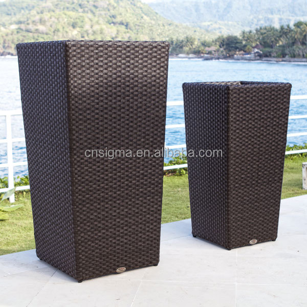 2015 Sigma all weather outdoor indoor french rattan vertical garden planters