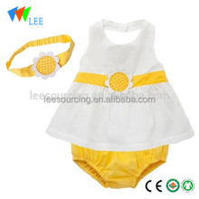 Wholesale Toddler Girl Swing Top Ruffle Bloomer 2 Piece Sets Summer Baby Clothes Clothing With Headband