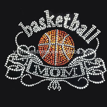 Basketball Mom Wholesale Rhinestone Transfers Design