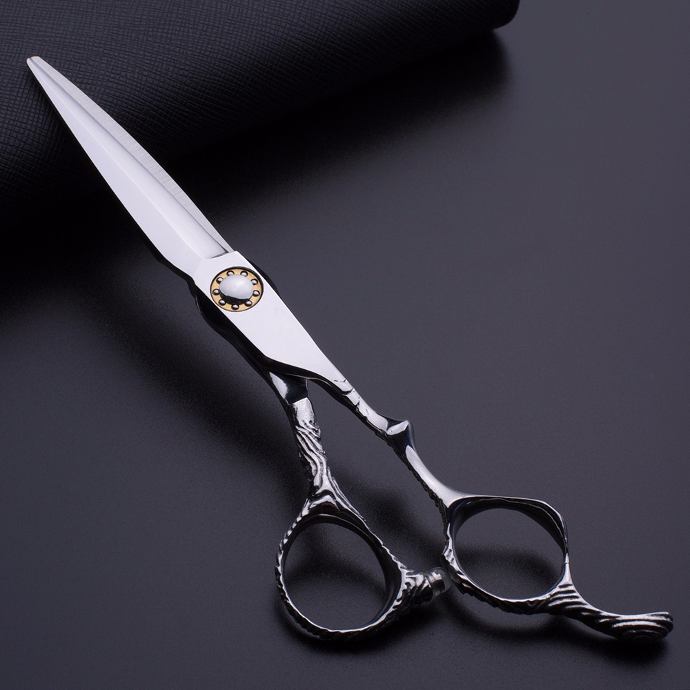 "Hair scissors japanese steel 6"" scissors thinning shears sale professional barber scissors set"