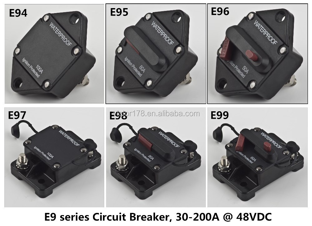 12V Circuit Breaker for Marine, 24V Circuit Breaker, 42V circuit Breaker for Marine