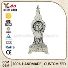 Hot 2016 Wholesale Price Custom Logo Clock For Old People Insert Metal Bezel
