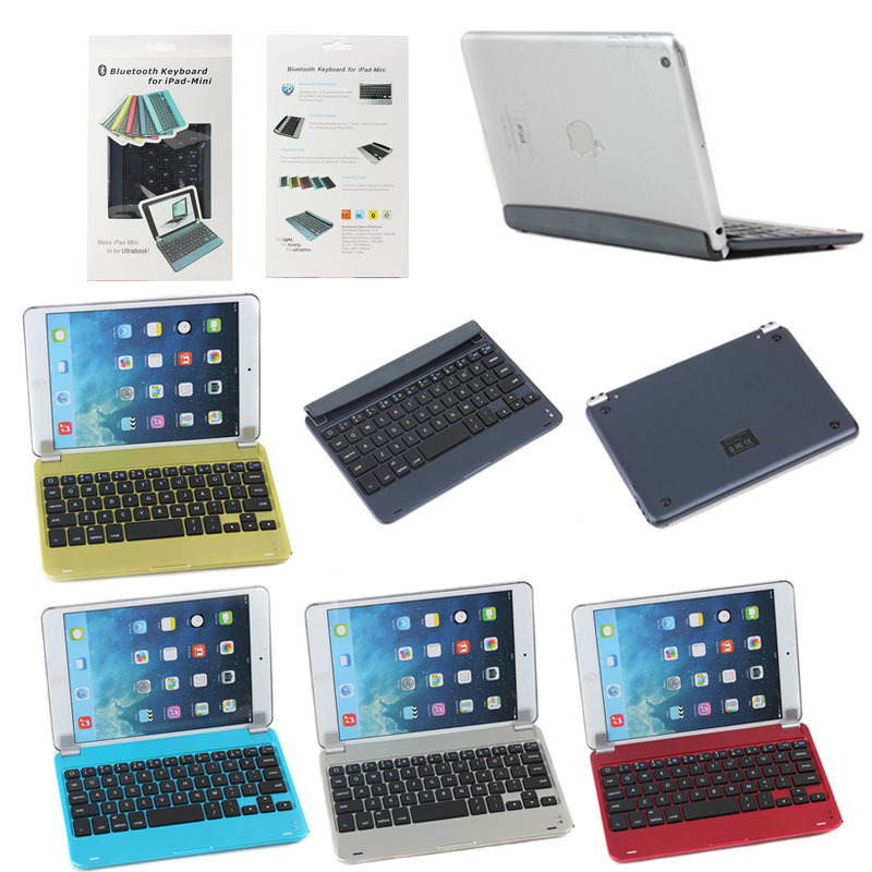 Bluetooth Wireless Aluminium Keyboard Case for iPad Mini 1 2 3