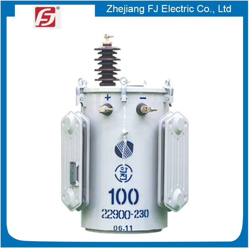 USA popular oil filled IEC certified 100kva single phase pole mounted transformer
