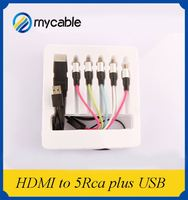 Professional oem 2.0v hdmi pcmcia card 5 rca cable with USB and 1080p 3D ethernet