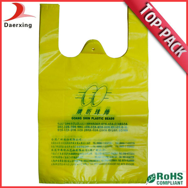 Cheap high quality resealable plastic t-shirt bags