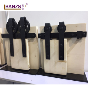 high-quality Iron black sliding barn door roller hardware