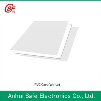 Hot Selling 0.76mm (1.5+0.46+1.5) thickness transparent non-laminating printable sheets for PVC card 3.8kgs/pack