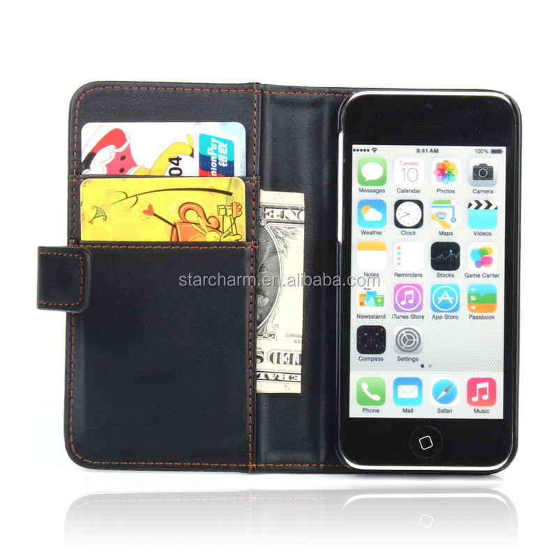New Arrival Bulk Cheap Factory Price Leather Case for iphone 5c