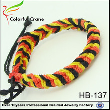 colorful tiger skin hand-knitted nylon cord bracelet,braided pulsera de nylon wholesale and customized made in china