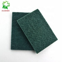 ecofriendly scouring pad scourer oem bulk stocked feature and polyester material floor kitchen cleaning pad sponge cleaning pad