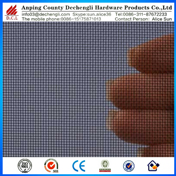 black polyethylene coating stainless steel window screen mesh