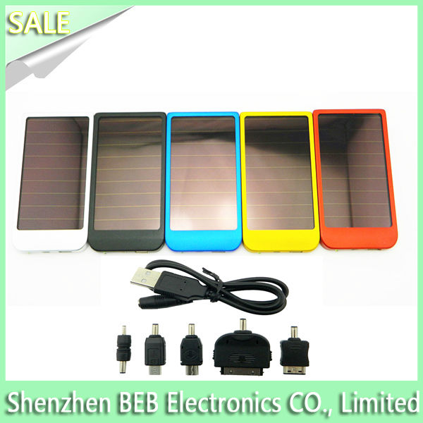 Alibaba verified 2600mah solar charger power pack from factory directly