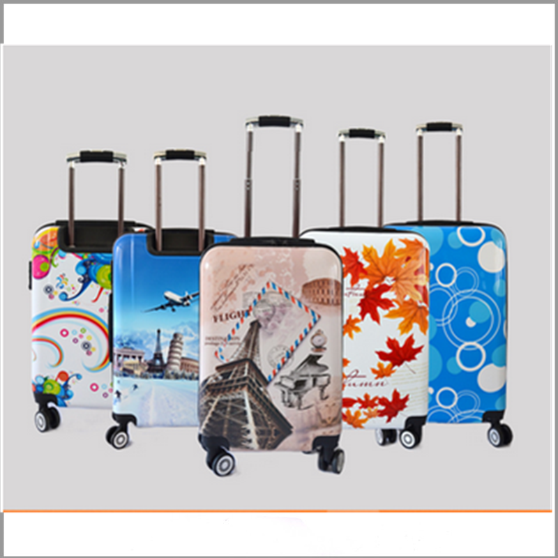 2016 hot sale colorful pc material lightweight toto travel luggage for teenagers