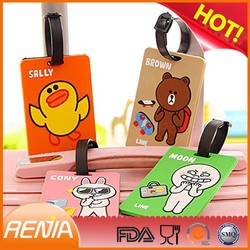 RENJIA round luggage tags luggage tag pouches silicone airline luggage tags