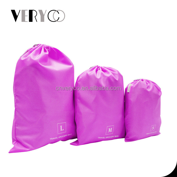 Promotional Satin Polyester Nylon Drawstring Pouch