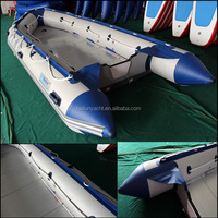 Aluminum floor inflatable boat for 8 persons