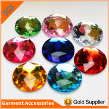 High Quality Lead Free Round Flat Back Acrylic Rhinestone for DIY Accessories