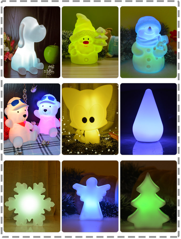 disney approved factories christmas decoration animal hedgehog night light toys for kids