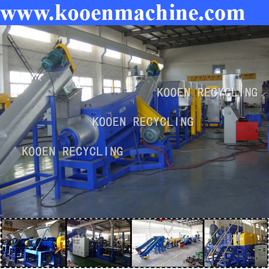 pp/pe film wash dry and granulation line