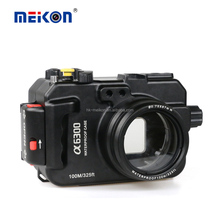 Meikon Alumminum Housing 100M Underwater Waterproof Aluminum camera Housing case for Sony A6300