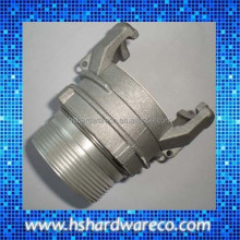 Aluminum symmetricque coupling guillemin coupling with lock ring and multi-serrated shore hose tail fire hose couplings