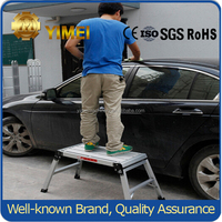 Portable telescopic aluminum working platform YM201for car washing