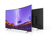 Factory Wholesale 55 inch UHD 4K Curved Smart D-LED TV with WIFI , Android System, App download !