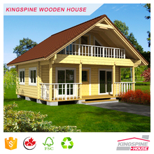 Wooden Log Prefabricated house with 70mm-wall 2 Storey terrace Good quality made in China for Export KPL-U1 EXW USD20000/Set