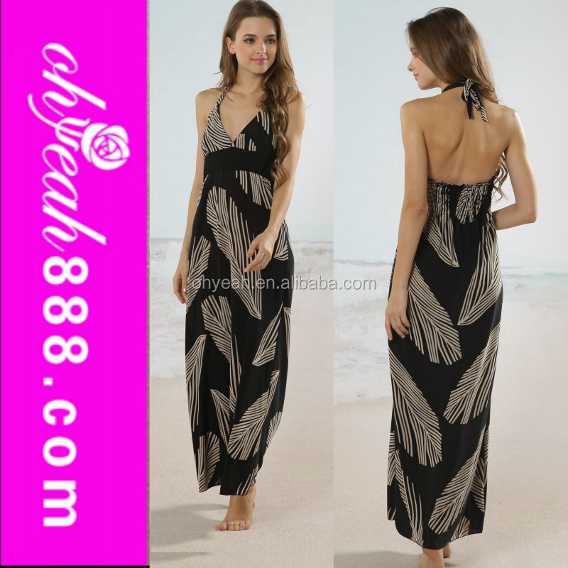 Hot design wholesale price floor length beach wear long style tie dye maxi dress