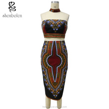 YZ202 African Dashiki Dress Custom Fit Kitenge Matching Tops And Skirts for Women