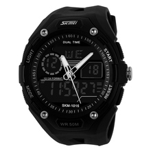 SKMEI 1015 5ATM Waterproof Men's Military Watches Fashion Hot sales Analog Digital Sport Watch