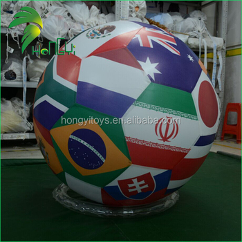 New Custom Inflatable Sign Giant Inflatable National Flag Sphere Helium Balloons / Air Balls Inflatable Flag Sphere