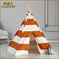 ODM kids teepee japan with carry bag Black Striped Teepee Playhouse Tent(PY26019)