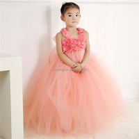 Bulk cheap factory supply flower girls wedding cinderella baby girls dress