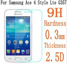 2.5D 9H0.3mm Protective Glass Film for SamsungGalaxy Ace 4 G357 Ace Style LTE G357 Tempered Glass Screen Protector