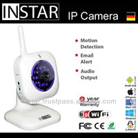 Square Wifi baby monitor IP Camera monitored by iPhone, Android, WindowsPhone