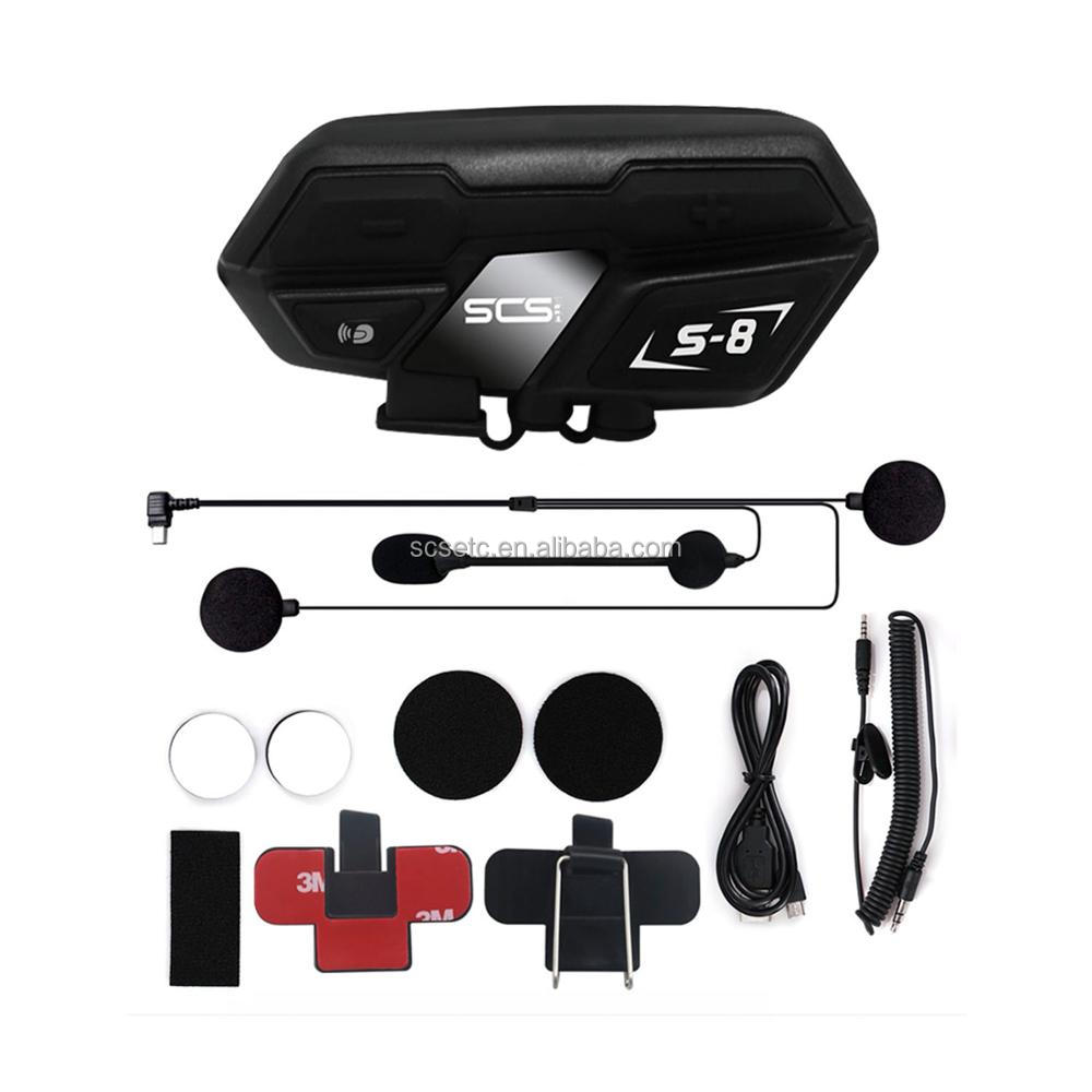 helmet kits motorcycle intercom ABS material S-8