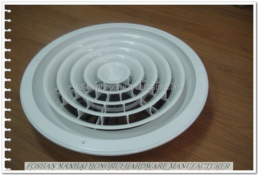 Steel Plastic Round Air Diffuser for HVAC Air Conditioning