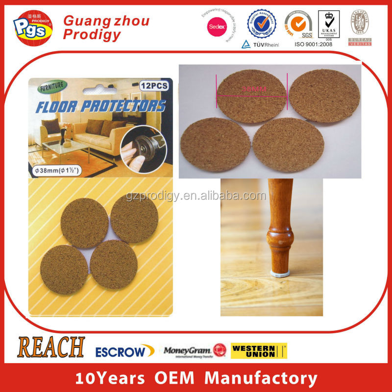 Felt Pads Furniture Sliders Round Sticky Felt Pad Cork Pads