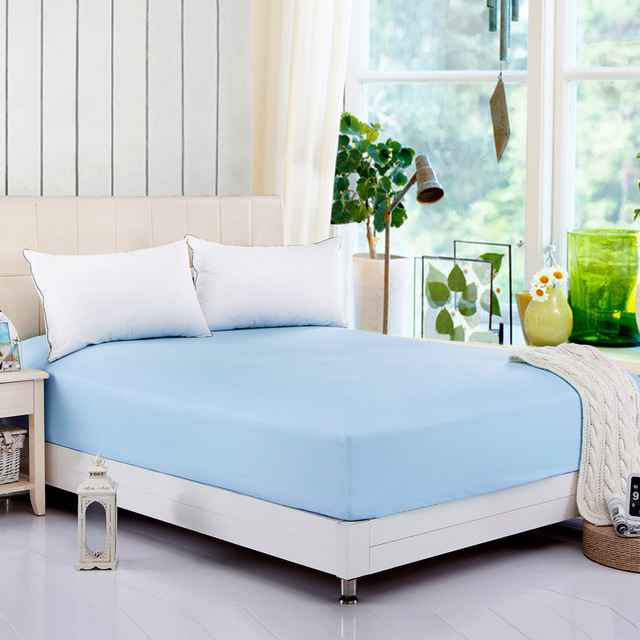 Fitted Anti Dust Mite Allergy Waterproof Bed Cover