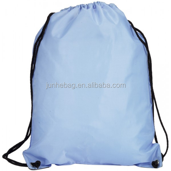 Light Blue Nylon Waterproof Drawstring Bag